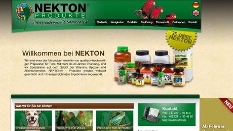 Nekton – Internetauftritt